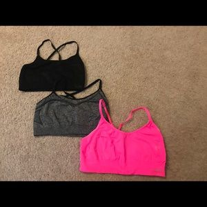 Three C9 by Champion sports bras